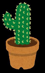 鉢植えのサボテンのイラスト4