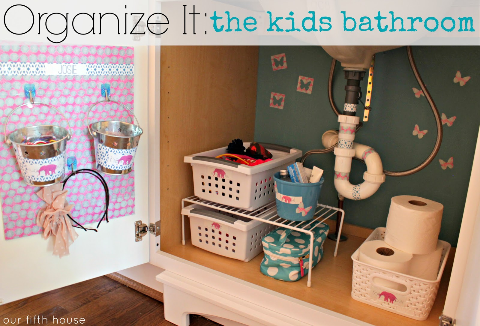 Organize it the kids bathroom our fifth house How to organize bathroom