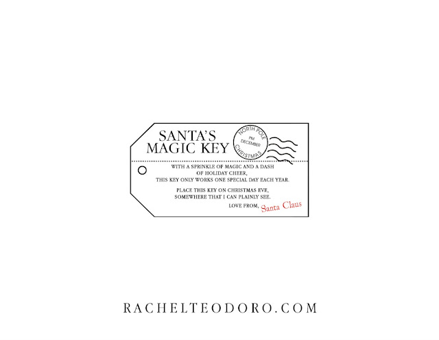 santas key for home without a chimney free printable