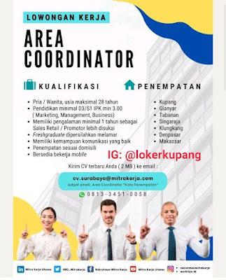 Lowongan Kerja Mitra Kerja Utama Sebagai Area CoordinatorLowongan Kerja Mitra Kerja Utama Sebagai Area Coordinator