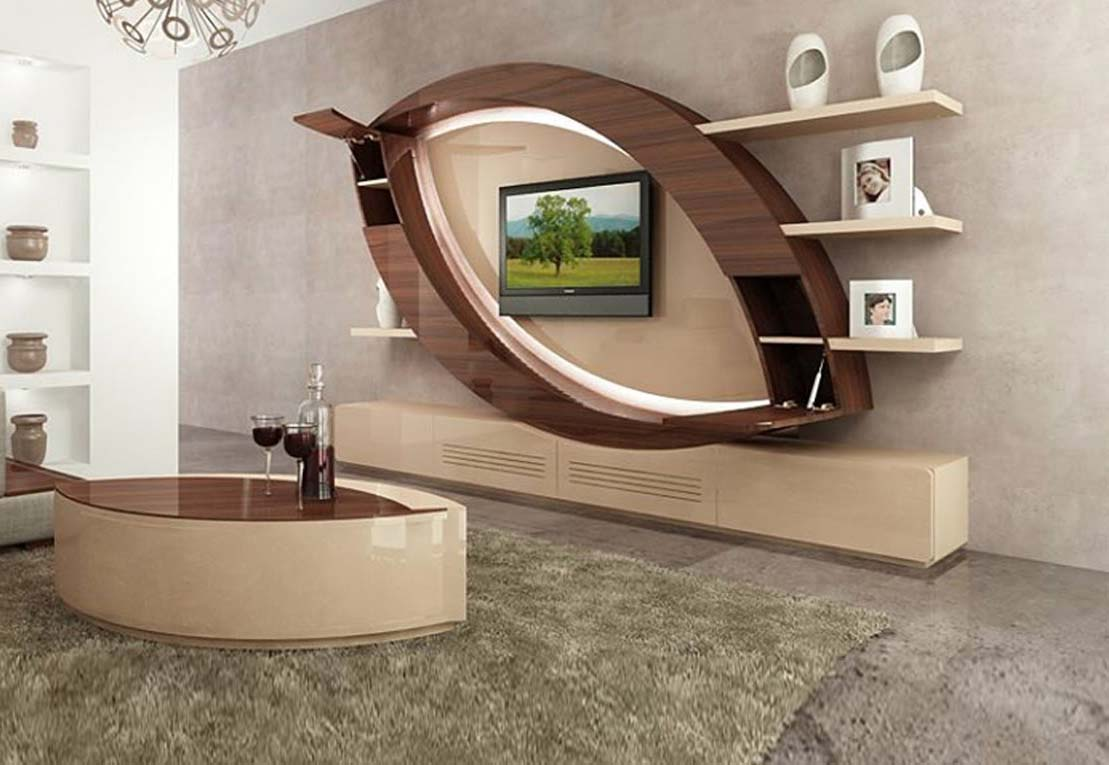 Superb Modern TV Cabinets Designs 2018 2019 For Living Room Interior Walls