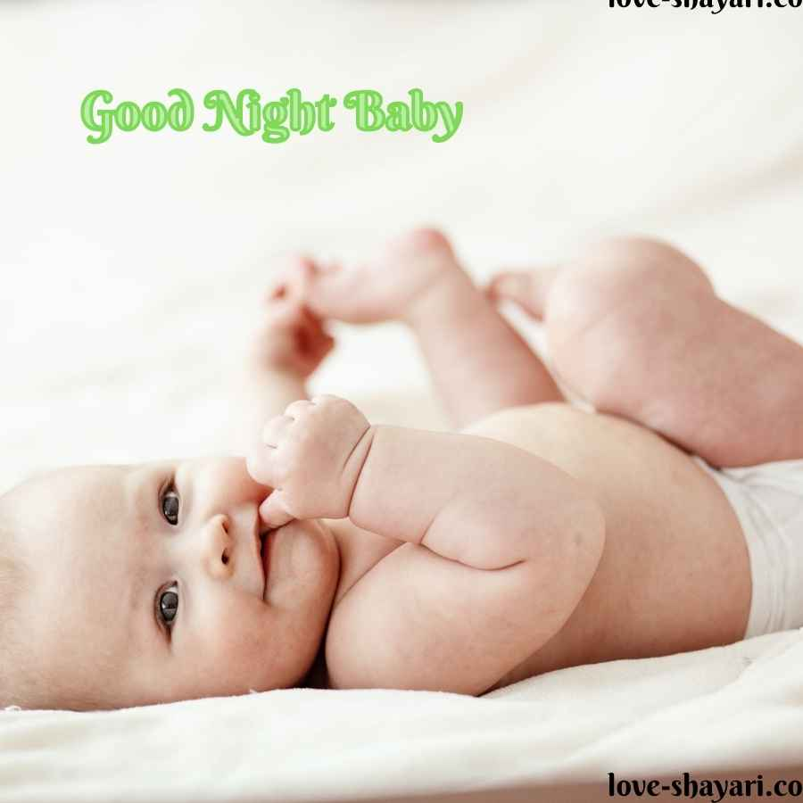 good night beautiful baby images