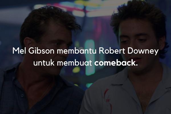 Robert Downey dibantu Mel Gibson
