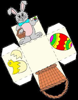 cajas conejo de Pascua moldes