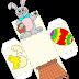 Manualidades para Pascua, cajas conejo de Pascua moldes