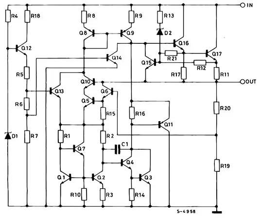 Internal circuit diagram of 7805