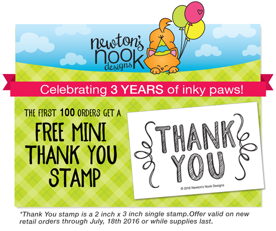 July Release Free Mini Stamp  |  Newton's Nook Designs #newtonsnook