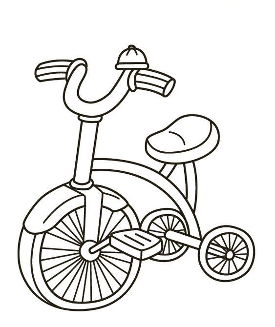 Hình tô màu xe đạp trẻ em