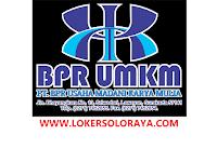Loker Solo Raya Agustus 2021 di PT BPR Usaha Madani Karya Mulia