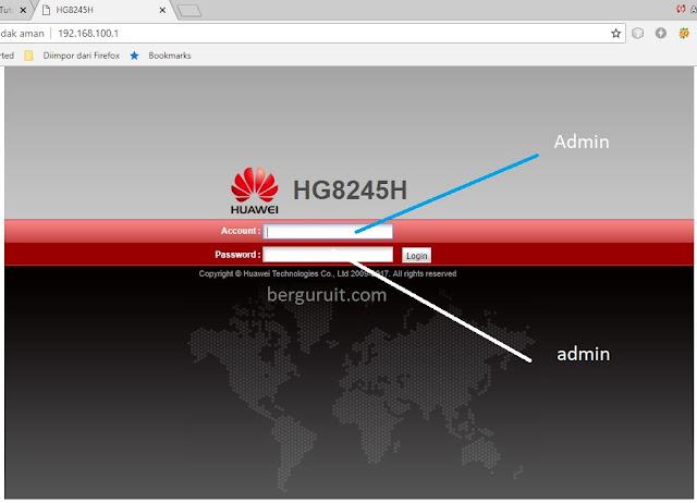 Login page Cara Merubah Password Login Indihome Modem Huawei HG8245H