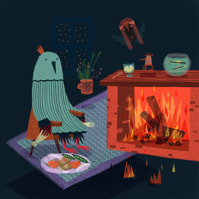 insomnio o narcolepsia - catalina carvajal ilustradora - illustrator