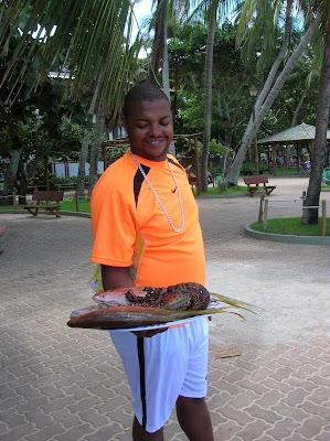 Pescado y marisco, Praia do Forte, Brasil, La vuelta al mundo de Asun y Ricardo, round the world, mundoporlibre.com