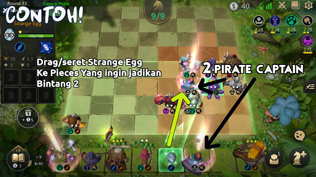 Pieces Baru Strange Egg Auto Chess Mobile - 2 Pieces Hero bintang 1 bisa jadi bintang 2