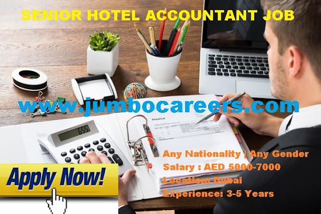 Dubai Accounting jobs in hospitality industry. Hotel Accounting Salary in Dubai 2018.