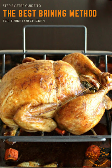 An easy, step by step guide on how to brine a turkey or chicken. #thanksgiving #turkey #roastchicken