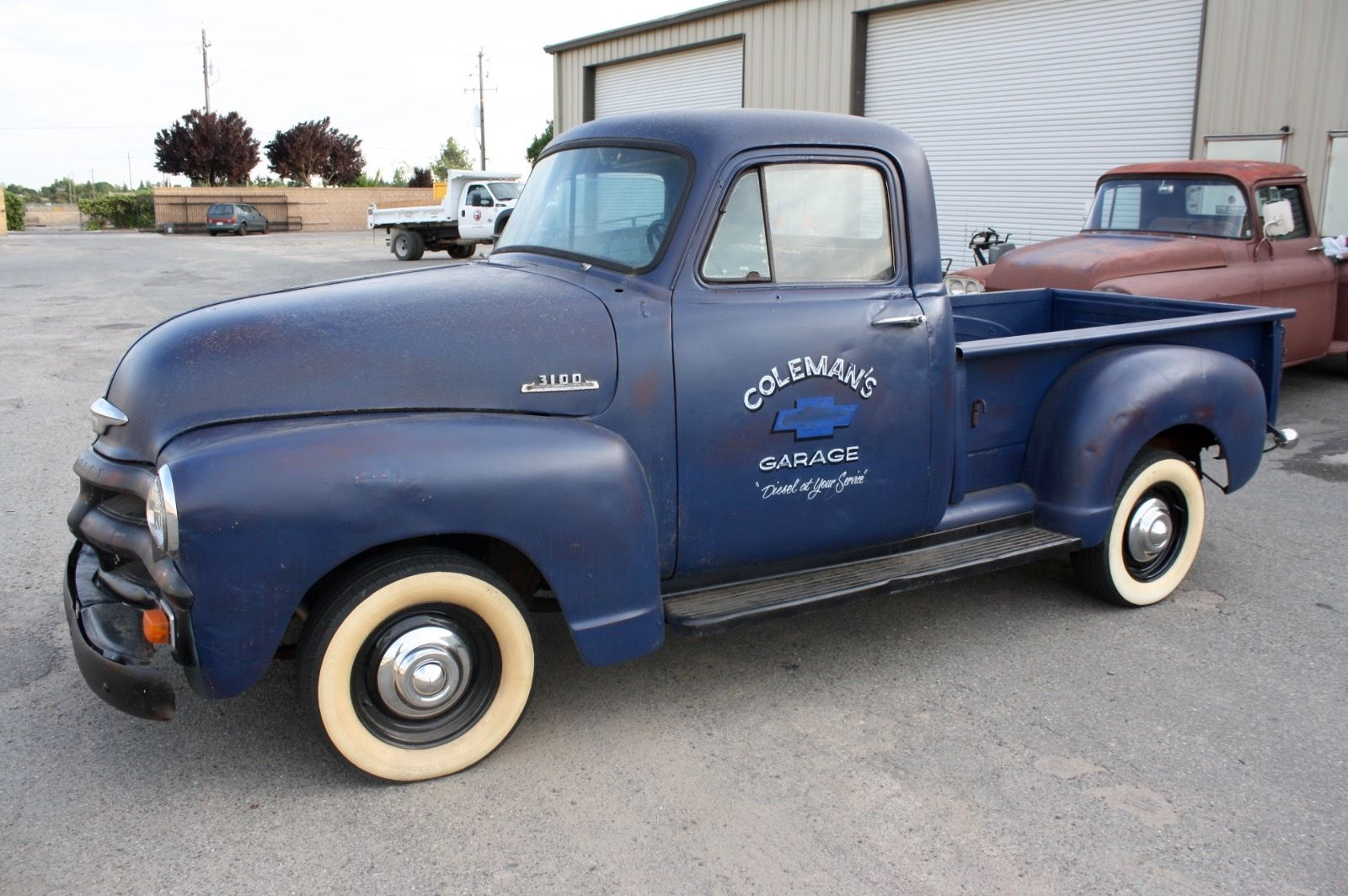 Daily Turismo Ol Betsy 1954 Chevrolet Pickup Chevy Truck The Inscription On Side Reads Colemans Garage Diesel At Your Service Which Means Car Will Probably Reek Of Oily Fuel That Comes From Those