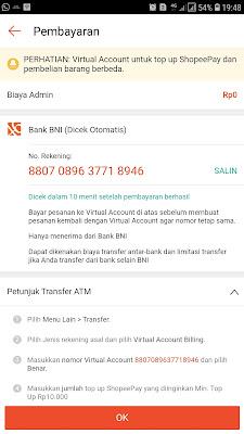 nomor virtual account bank bni