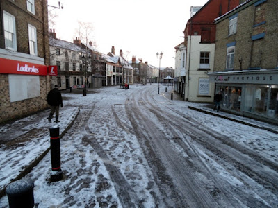 Picture two  of snow and ice in Brigg on January 23, 2019 by Nigel Fisher