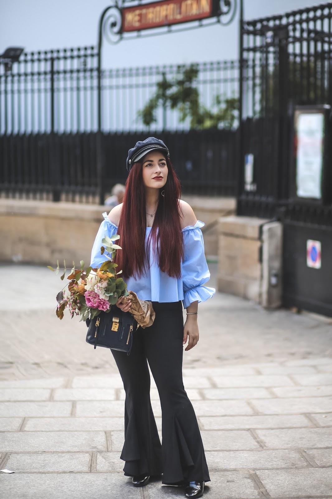 pantalon sirène évasé à volants blog mode