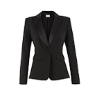 peplum blazer in black $54.99