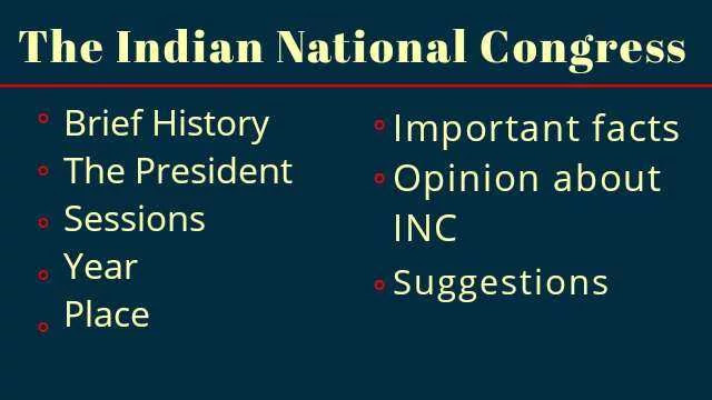 Indian National Congress sessions