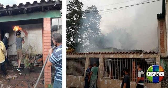 Bomberos apagan incendio en Bejuma a punta de ramazos porque la cisterna no sirve