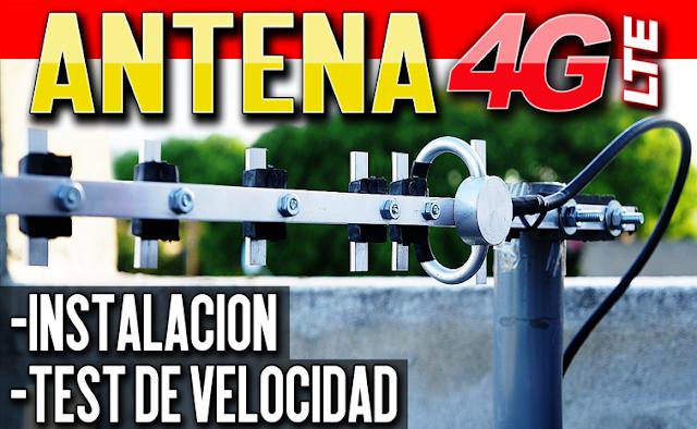 Antena Yagi Externa para Modem/Router 4G-LTE   Instalación + PRUEBAS