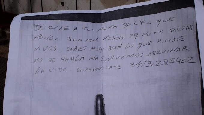 """""""Nos dejaron una nota pidiendo 500 mil pesos sino nos mataban, hicimos la denuncia, no hubo custodia y a la semana nos balearon la  casa""""."""