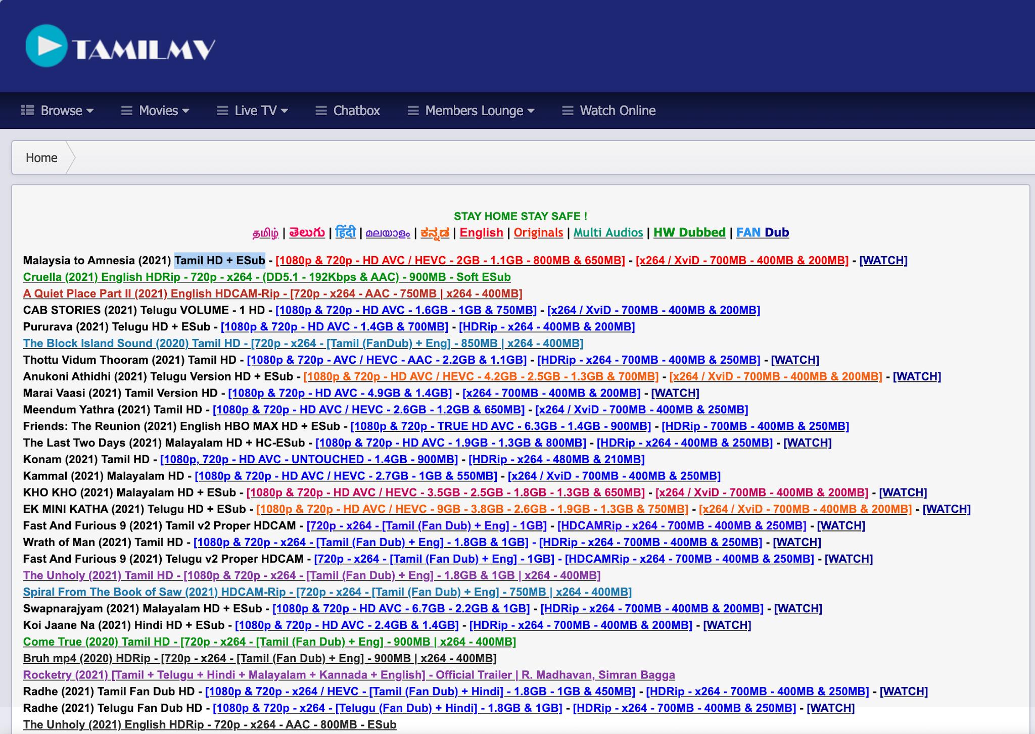 1TamilMV Website 2021
