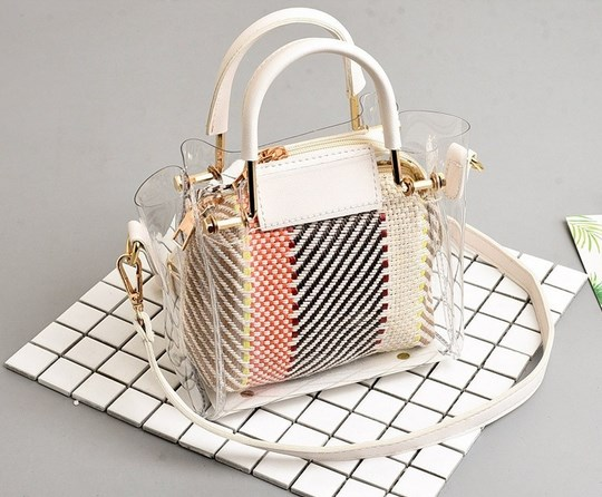 https://baginning.com/p/white-belt-with-white-handle-clear-purse-multi-color-woven-inside-bag.html