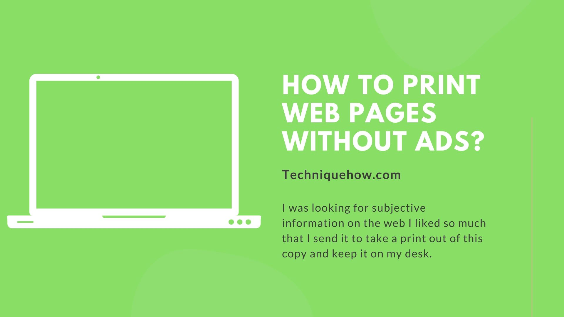 print web pages without ads