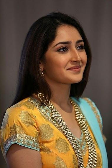 Sayesha Saigal Hot in Yellow