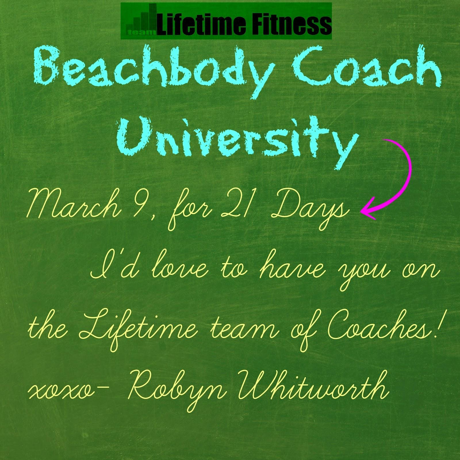 Robyn Whitworth beach body coach university