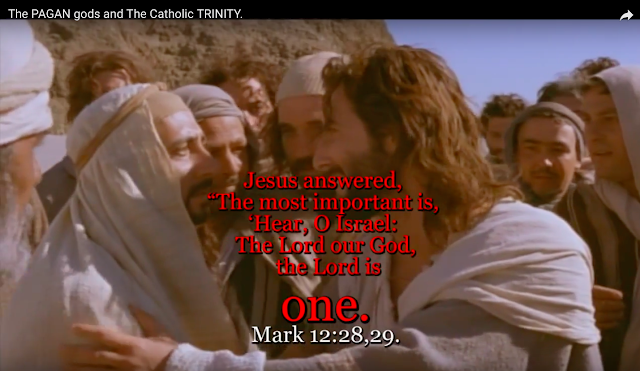 "Jesus answered, ""The most important is, 'Hear, O Israel: The Lord our God, the Lord is (one). Mark 12:28,29."