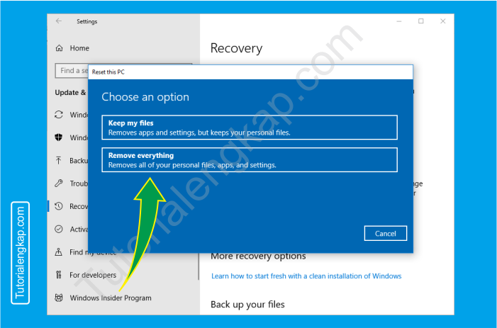 5 tutorialengkap Cara reset windows 10 untuk mengembalikan ke pengaturan default