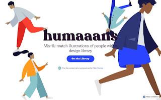 boceto de biblioteca de ilustraciones gratuitas de humanos