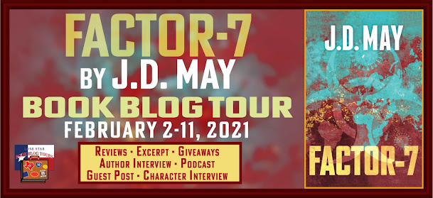 Factor-7 book blog tour promotion banner