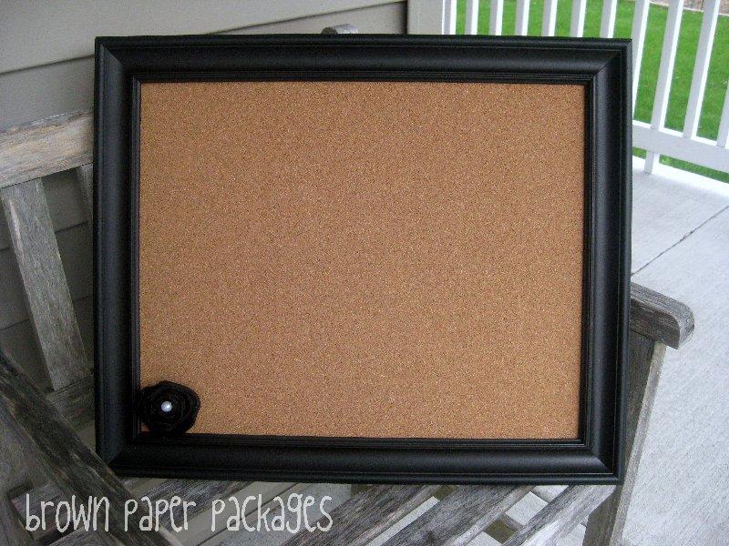 {DIY framed corkboard} - Simply Kierste Design Co.