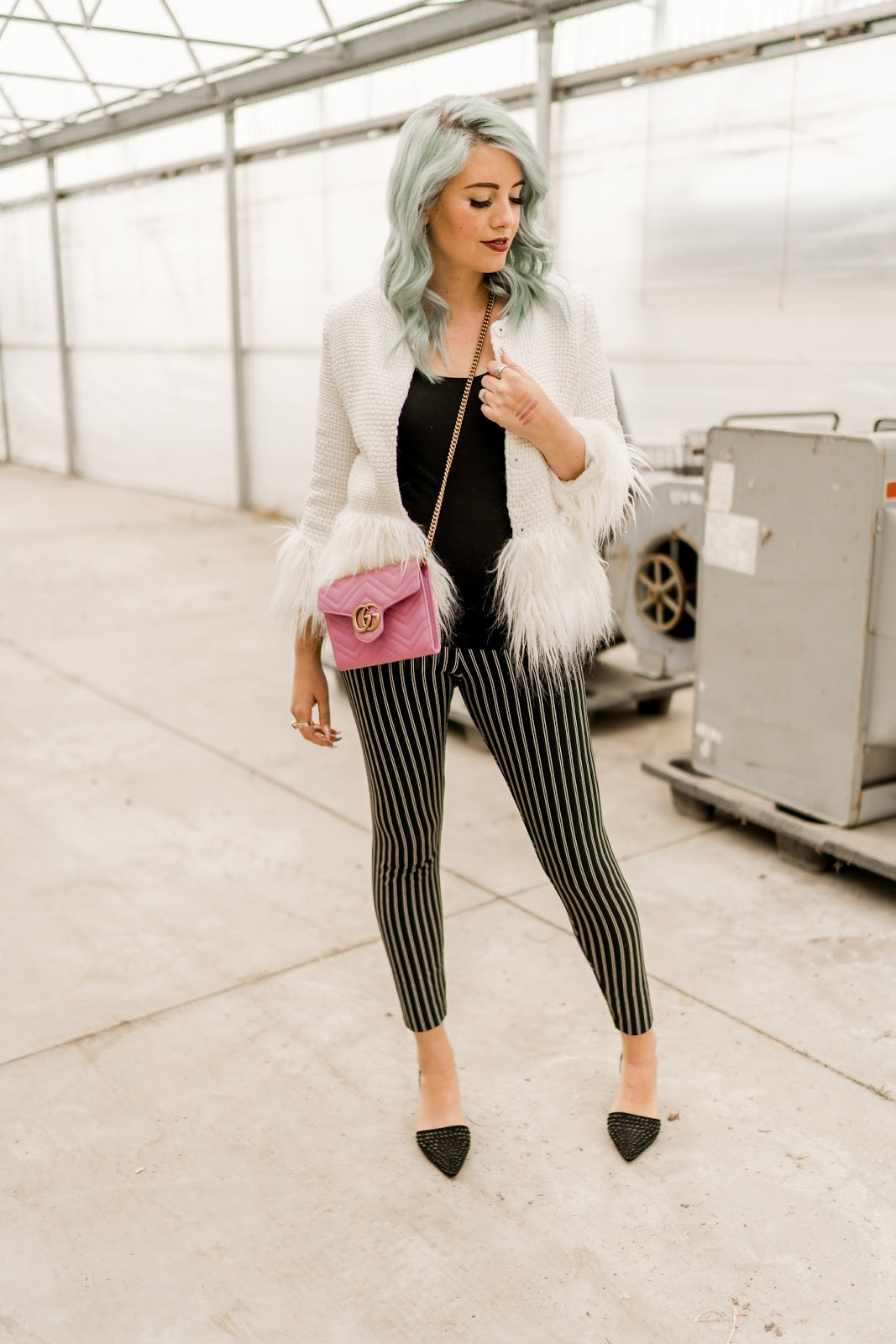 Pregnancy Style, Pregnant Outfit, Striped Leggings