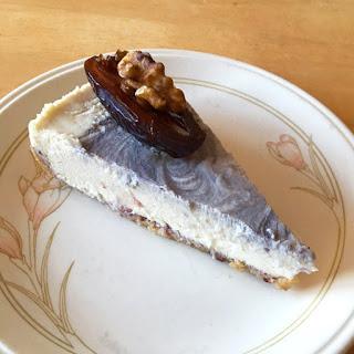 Vegan cheesecake Izz Cafe