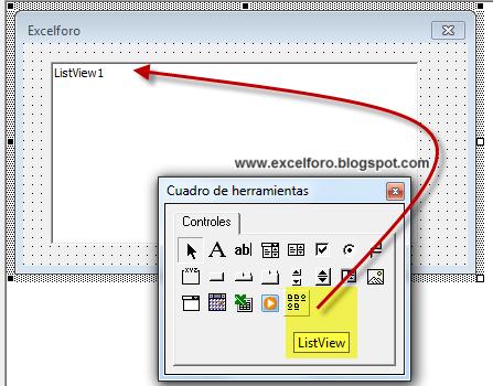 VBA: El control ListView en Excel | EXCEL FORO: EJERCICIOS, EJEMPLOS