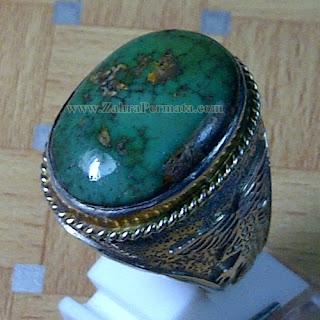Cincin Batu Pirus Persia Hijau - ZP 813