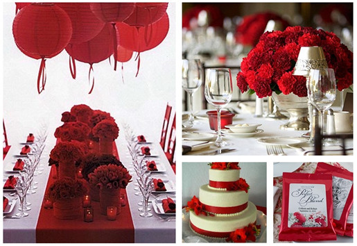 Red Wedding Ideas Table Flower