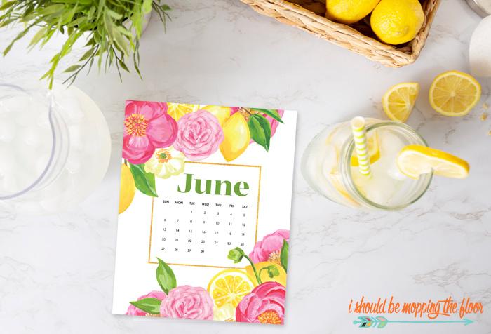 Summer Calendar Printables