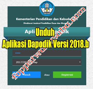 Unduh Aplikasi Dapodik Versi 2018.b