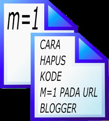 hapus kode ?m=1 pada URL blog