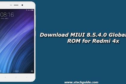 Custom Rom MIUI 8.5.4.0 Global Stable ROM Redmi 4X