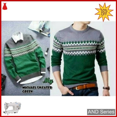 AND206 Sweater Pria Michael Green Murah BMGShop