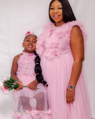Ebere Seyi law's wife and daughter Tiwaloluwa Chidera Aviella