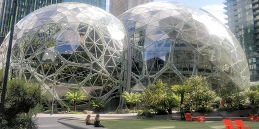 Amazon Spheres, Seattle Spheres, Solarpunk